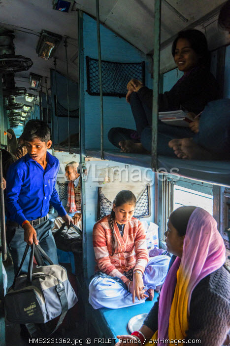 India, Uttar Pradesh state, Agra, inside of a train carriage