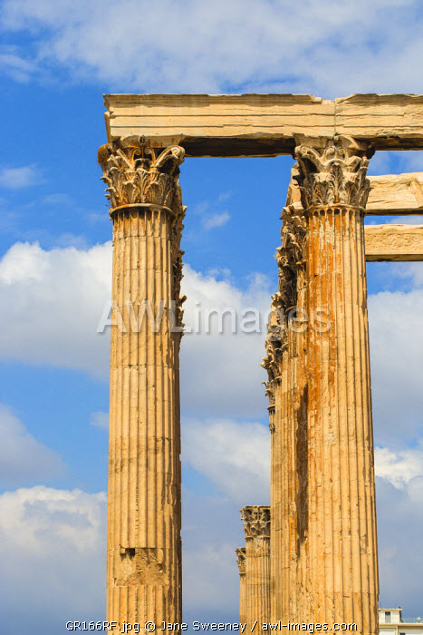 Greece, Attica, Athens, The Temple Of Zeus, also known as the Olympieion