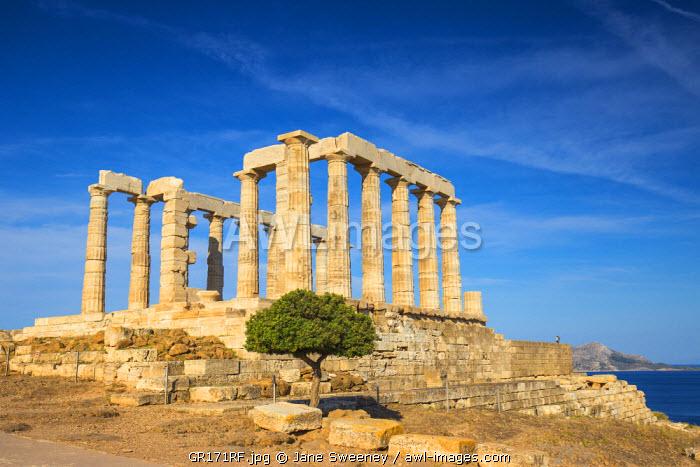 Greece, Attica, Athens, Cape Sounio, Temple of Poseidon