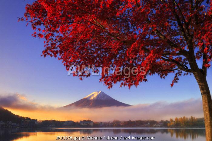 Japan, Fuji - Hakone - Izu National Park, Mt Fuji and Kawaguchi Ko Lake