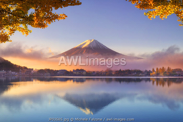 Japan, Fuji - Hakone - Izu National Park, Mt Fuji and Kawaguchi Ko Lake