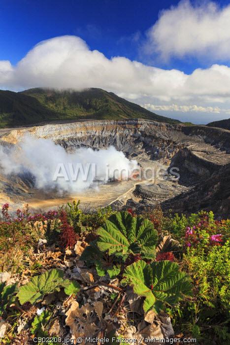 Costa Rica, Central Highlands, Poas Volcano National Park, inner crater