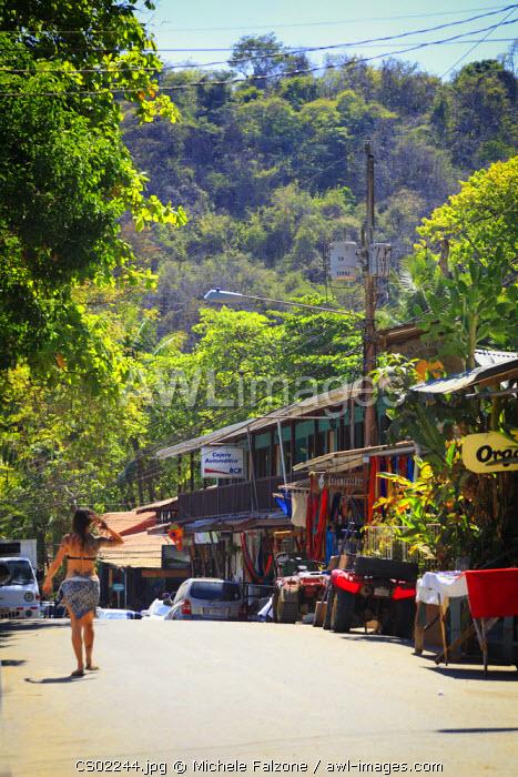 Costa Rica, Guanacaste, Nicoya Peninsula, Montezuma, town center