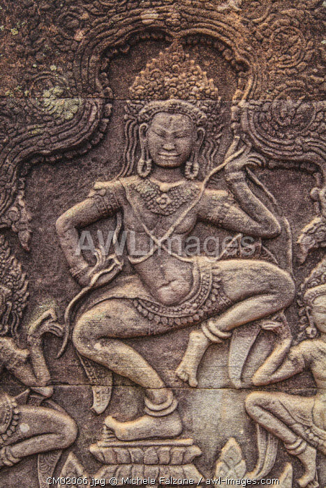 Cambodia, Temples of Angkor (UNESCO site), Bayon, Dancing Apsara Nymph