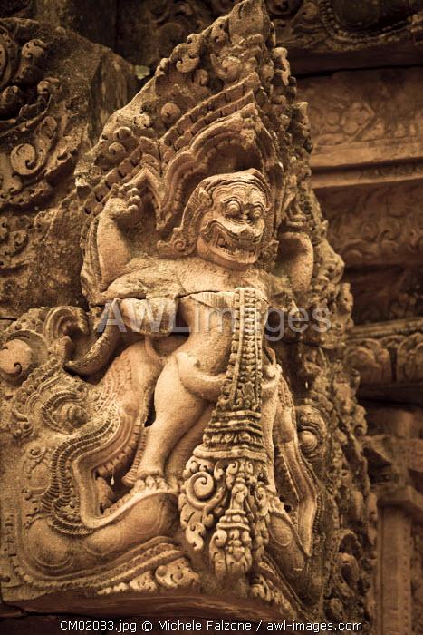 Cambodia, Temples of Angkor (UNESCO site), Banteay Srei Temple, central sanctuary