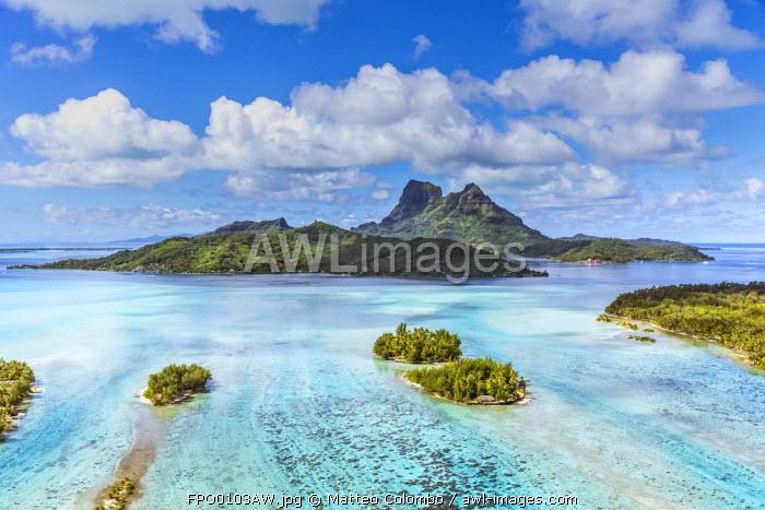 Awl Images Aerial View Of Bora Bora Island French Polynesia
