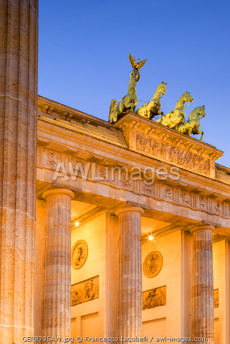 Germany, Deutschland. Berlin. Berlin Mitte. Brandenburg Gate, Brandenburger Tor