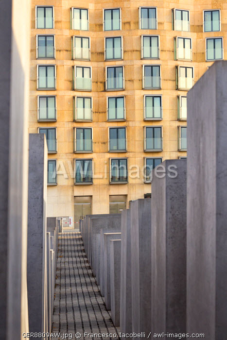 Germany, Deutschland. Berlin. Berlin Mitte. Holocaust memorial.