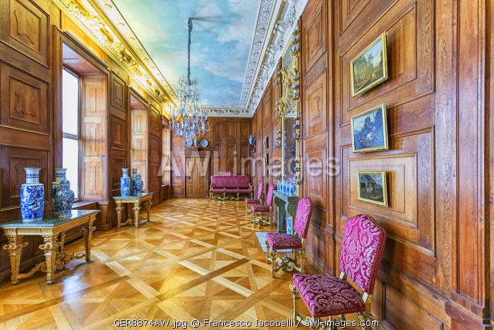 Germany, Deutschland. Berlin. Berlin Charlottenburg. Charlottenburg Palace, Schloss Charlottenburg. Inside the Palace.