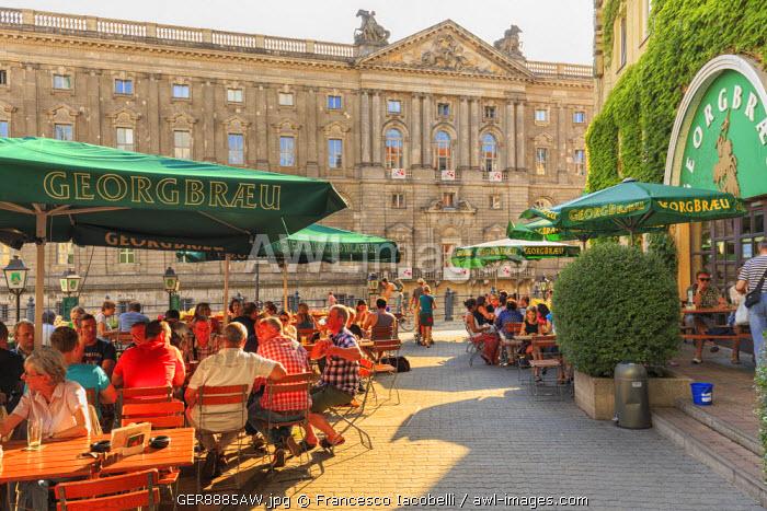 Germany, Deutschland. Berlin. Brauhaus Georgbraeu restaurant.