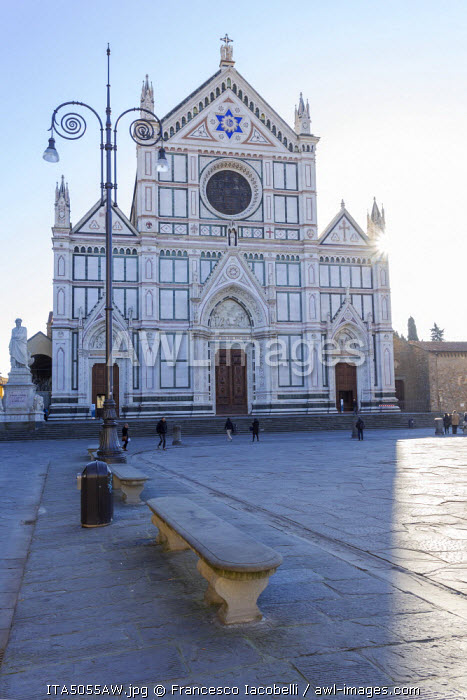 Italy, Italia. Tuscany, Toscana. Firenze district. Florence, Firenze. Santa Croce church.
