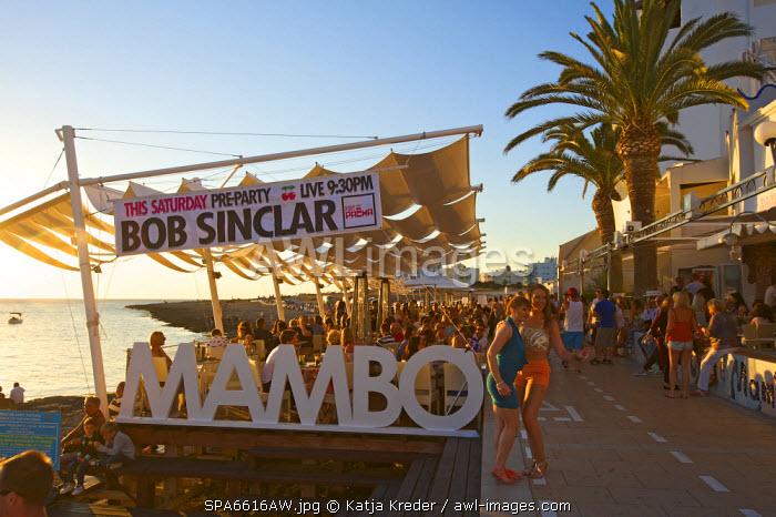 Sunset, Caf� Mambo, Sant Antoni, Ibiza, Balearic Islands, Spain