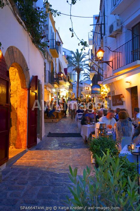Restaurant in Dalt Vila, Ibiza Townt, Ibiza, Balearic Islands, Spain