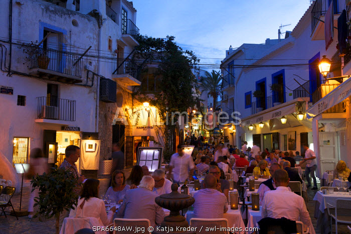 Restaurant in Dalt Vila, Ibiza Townt, Ibiza, Balearic Islands, Spain