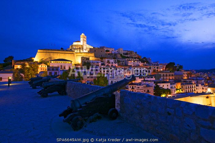 Santa Lucia Church, Dalt Vila, Eivissa, Ibiza Town, Ibiza, Balearic Islands, Spain
