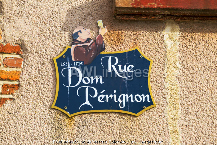 Rue Dom Perignon, Hautvilliers, Marne valley, Champagne Ardenne, France