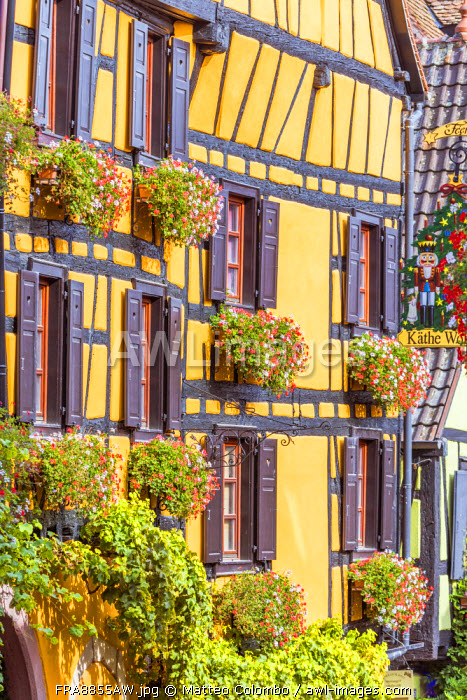 Typical timber framed houses, Riquewihr, Alsace, France