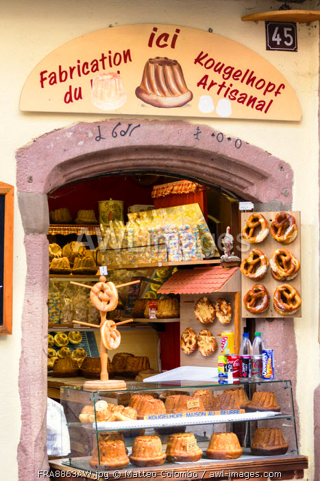 Traditional bakery, Riquewihr, Alsace, France