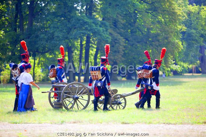 Czech Republic, Moravia, Slavkov u Brna. Historic re enactement of the Battle of Austerlitz which happened in the region now part of Czech Republic.