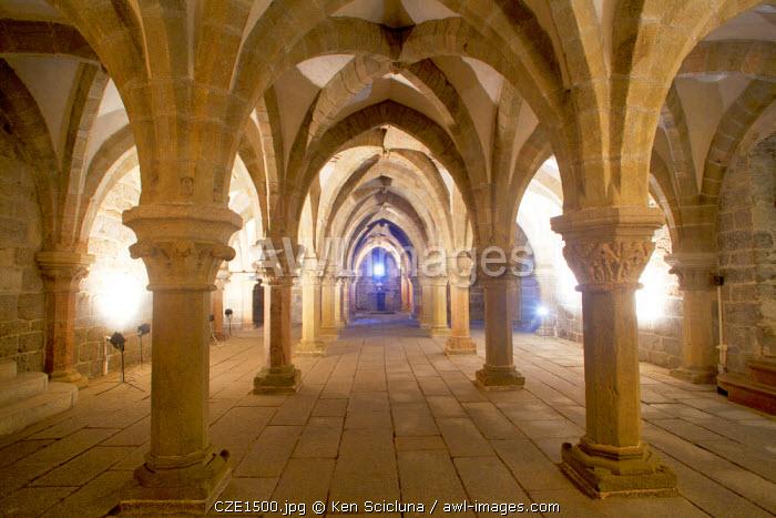 Czech Republic, Moravia, Trebic. The Crypt of St Procopius Basilica. Unesco.