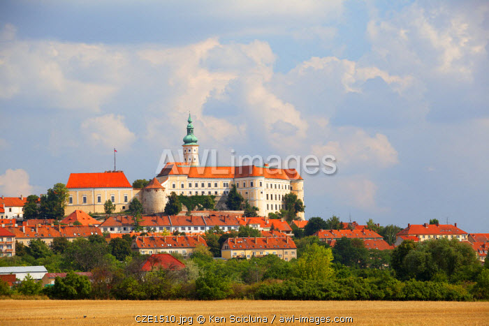 Czech Republic, Moravia, Mikulov. The Castle.