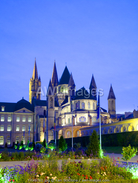 France, Normandy, Caen. The Abbey of Saint-Etienne.
