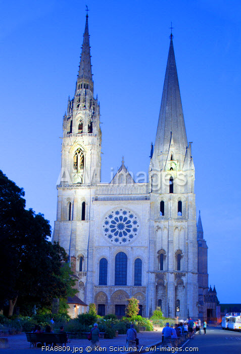 France, Eur et Loir, Chartres. The Cathedral.