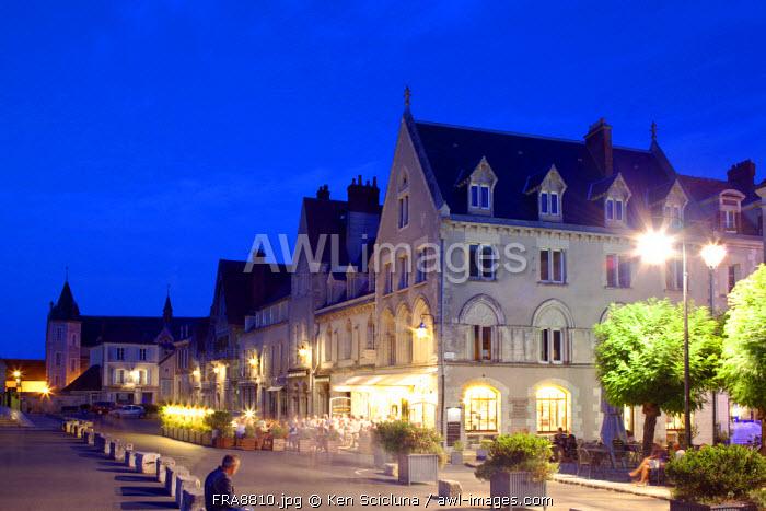 France, Eur et Loir, Chartres. Houses in the historical centre.