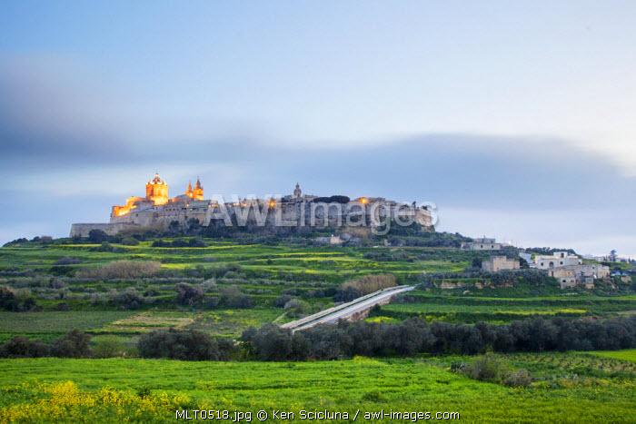 Europe, Maltese Islands, Malta. The former capital of Mdina