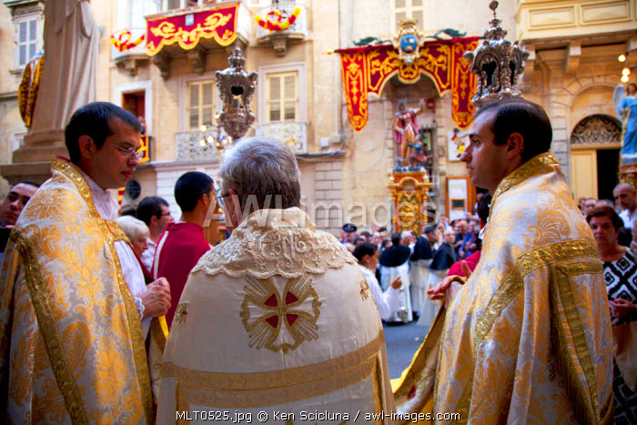 Europe, Maltese Islands, Malta. Feast of St.Dominic celebrated in the streets of Valletta.