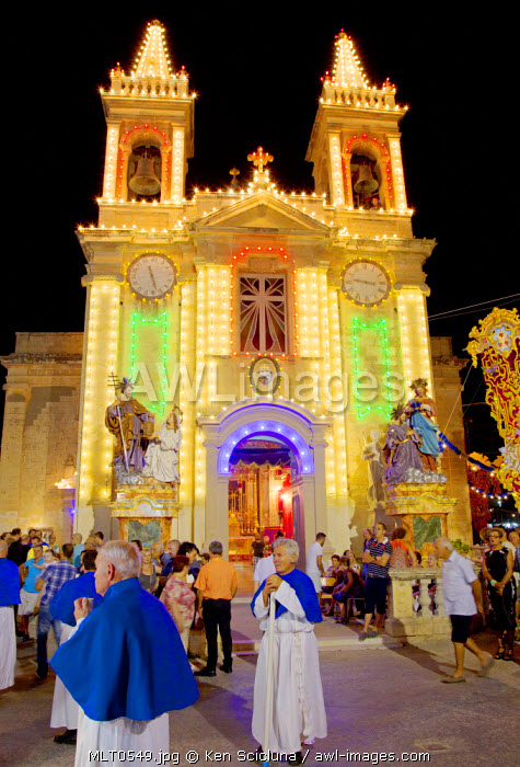 Europe, Maltese Islands, Malta. A village feast.