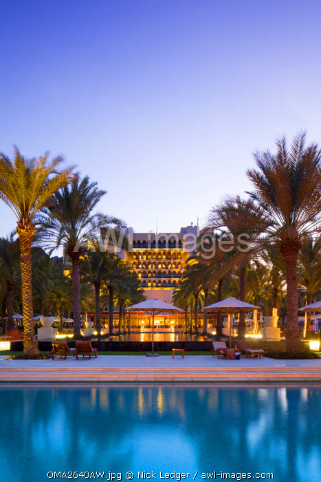 Oman. Muscat Governorate, Muscat. Al-Bustan Palace, a Ritz Carlton Hotel.