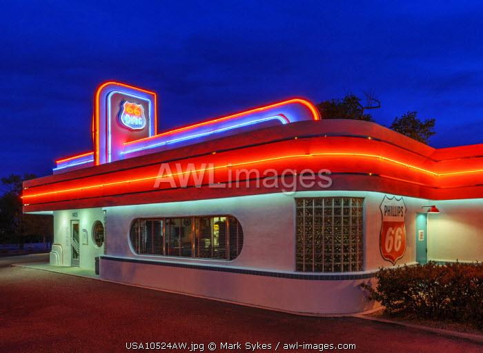 North America, United States of America, New Mexico, Albuquerque, 66 Diner