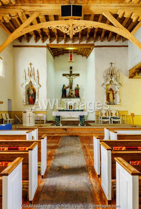 North America, United States of America, New Mexico, Socorro, San Miguel de Socorro Church,