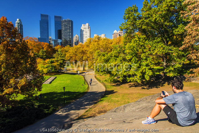 Autumn colors at Central Park, Manhattan, New York, USA