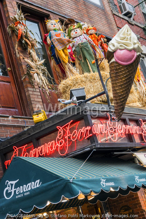 The historic Ferrara Bakery & Cafe located at Little Italy, Manhattan, New York, USA