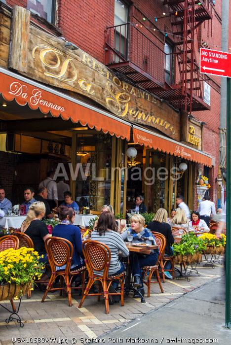 Italian restaurant, Little Italy, Manhattan, New York, USA