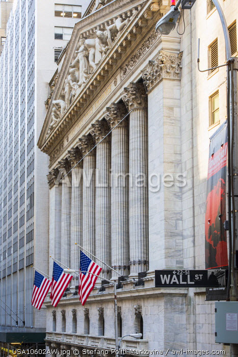 New York Stock Exchange, Wall Street, Lower Manhattan, New York, USA