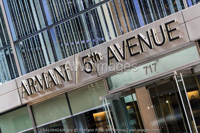 Armani store on 5th Avenue, Manhattan, New York, USA
