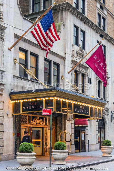 Warwick New York Hotel, Manhattan, New York, USA