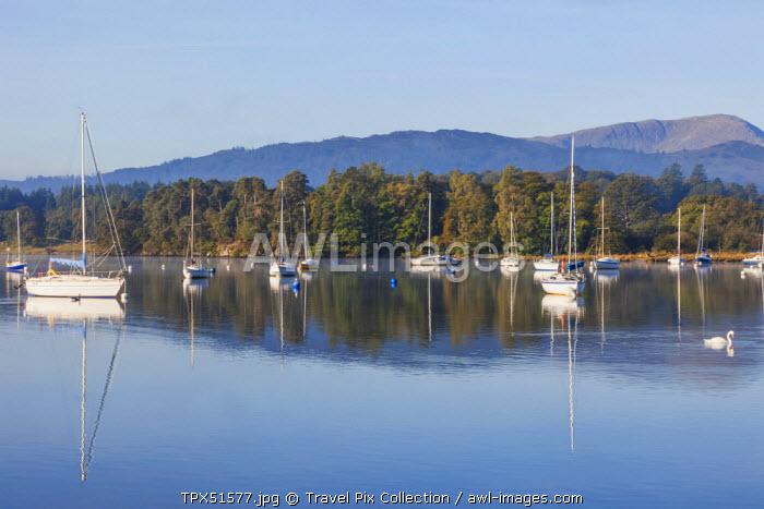 England, Cumbria, Lake District, Windermere, Ambleside, Lake View