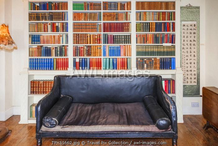 England, Cumbria, Lake District, Rydal, William Wordsworth's Home Rydal Mount, Wordsworth's Sofa