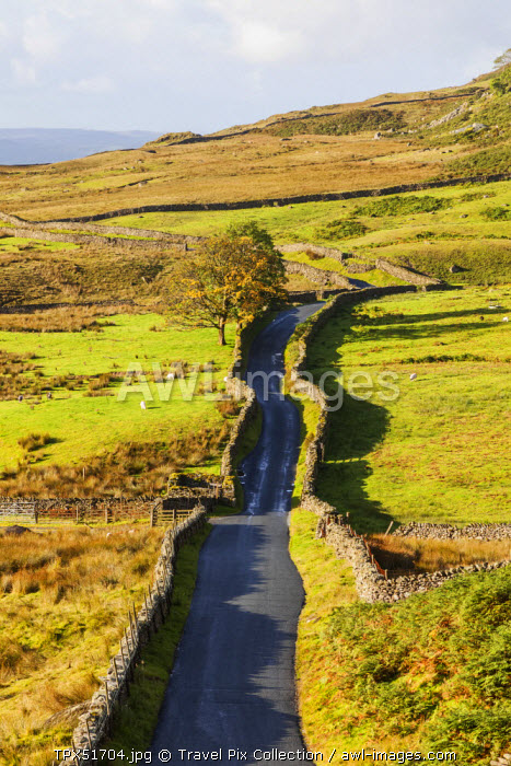 "England, Cumbria, Lake District, Kirkstone Pass, ""The Struggle"" Road to Ambleside"