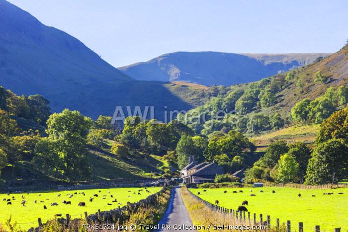 England, Cumbria, Lake District, Ullswater, Farm at Glenridding