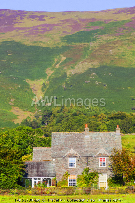 England, Cumbria, Lake District, Borrowdale,Typical House