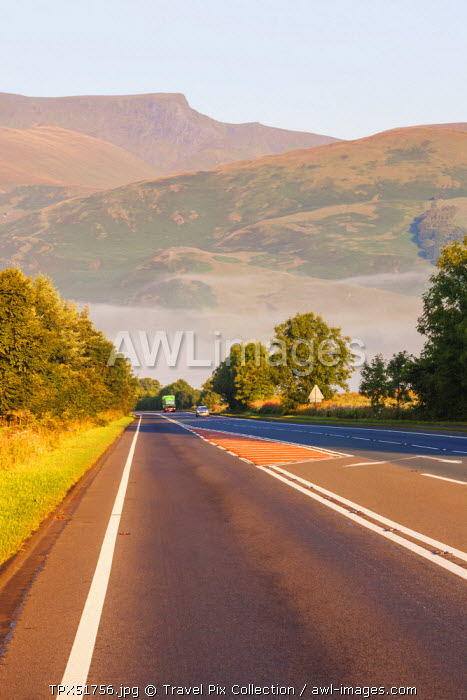 England, Cumbria, Lake District, Road near Penrith