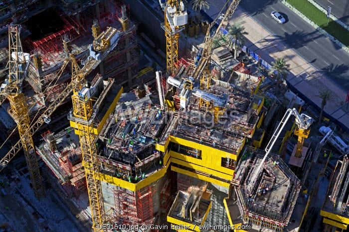 Construction of new luxury apartment buildings in Dubai, United Arab Emirates