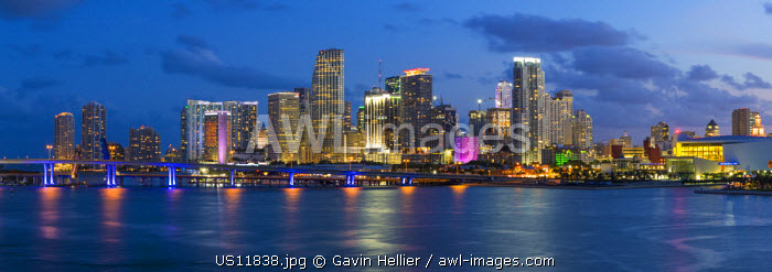 Downtown Miami skyline, Miami, Florida, USA, North America