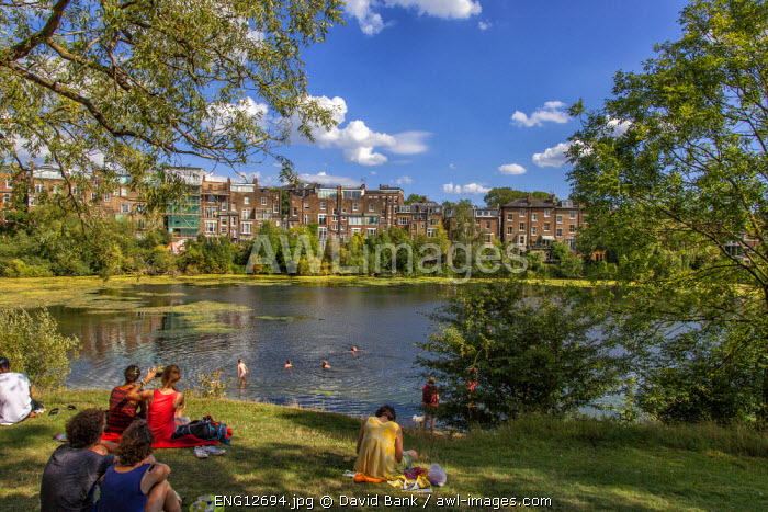 Hampstead Heath is a large, ancient London park, covering 320 hectares.