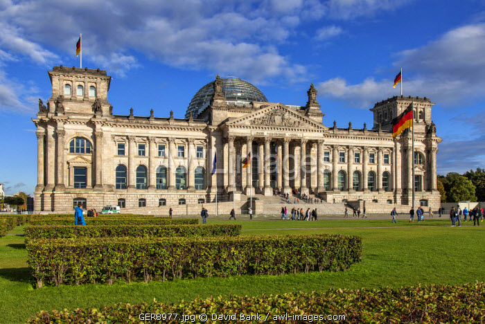 The Reichstag was built in 1894 as the German parliament. Today it is the seat of the German Bundestag, the parliament of the Fedral Republic of Germany.